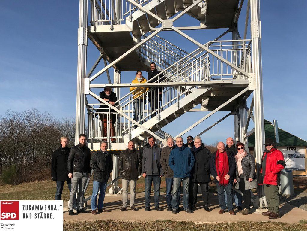 Mitglieder der SPD am Panoramaturm